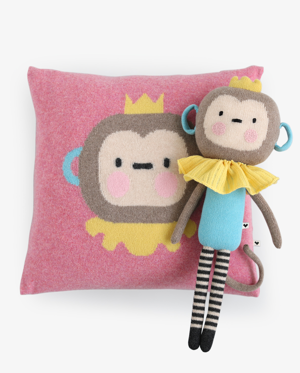 LAUVELY-CUSHION+DOLL-MONKING